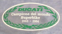 DUCATI 749/999/999R CAMPIONE DEL MONDO -2003-2004- SCREEN FRONT LOCATION