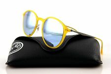 RARE NEW Genuine RAY-BAN LIGHT RAY Round Yellow Mirror Sunglasses RB 4224 618630