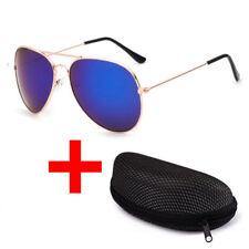 New Men Women UV 400 Mirrored Sunglasses LUENX Aviator Polarized clour with Case