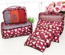 Waterproof Clothes Storage Bag Set Packing Cube Travel Luggage Organizer Pouches