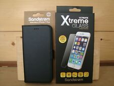 Sandstrom Apple iPhone 7/8 PLUS Wallet Case and Xtreme Glass Screen Protector