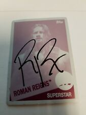 TOPPS ROMAN REIGNS 2015 Heritage AUTOGRAPH PRINTING PLATE 1/1 In person