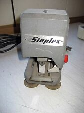 "Used Vintage Staplex Electric Stapler SJM-1, Adj. Throat 0-3"", 4""w x 7.5""d x 7""h"