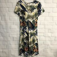 Hilo Hattie The Hawaiian Original Womens Palm Tree Rayon Dress S