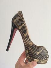Party Animal Print 100% Leather Slim Heels for Women