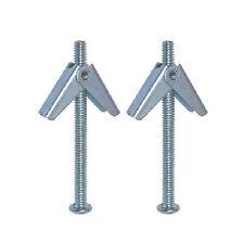 Pack 2 M3X50 Ressort à Bascule Plaque de plâtre Fixation Creux Cavité Mur Ancres