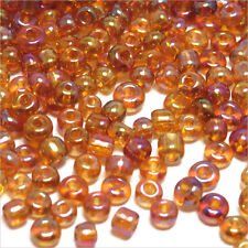 Perles de Rocailles en verre Transparent 2mm Ambre AB 20g (12/0)