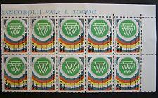 1990  Italia 10 valori    Italia 90   Germania Ovest     600 lire   MNh**
