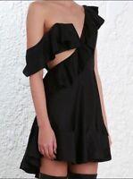 Zimmermann Rife Flounce Dress | Mini Cut Out | Ruffles, Frills | Black $850 RRP