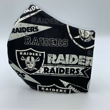 Oakland Las Vegas Raiders Retro Logo Nfl Cotton Face Mask w/Adjustable Straps