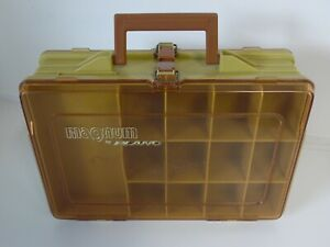 Vintage Double Sided Plano Magnum Portable Tackle Box Fishing Organizer
