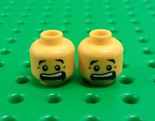*NEW* Lego Suprised Scared Heads Double Face Smile Minifigures Figs - 2 pieces