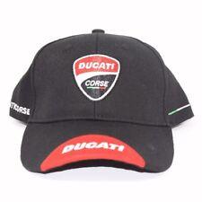 Ducati Corse Black Embroidered Cap Hat - NEW