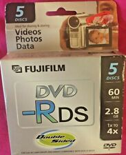 5-Pak FUJIFILM Mini DVD-R Double Sided 2.8GB 60-Min for Sony & Other Camcorders