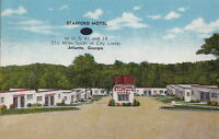 Postcard Stafford Motel Atlanta GA Georgia