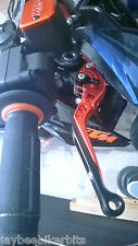 KTM RC8 RC8R 2009-2016  BRAKE & CLUTCH ORANGE FOLDING LEVERS RACE TRACK   R11A3