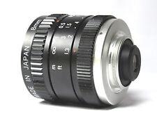 Vintage Wide Angle OPTICOM Lens FocalLength 8mm Speed  f/1.3