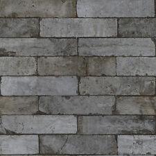 Rasch Factory II -  446333 - Vliestapete Klinker mausgrau