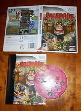 RAMPAGE TOTAL DESTRUCTION NINTENDO WII COMPLETE IN NEAR MINT CONDITION