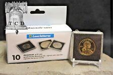5 Sacagawea Small Dollar 2x2 Coin Holder Snap Capsule 26mm QUADRUM Storage Case
