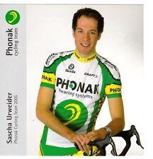 CYCLISME carte cycliste SASCHA URWEIDER équipe PHONAK cycling team 2005