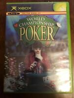 WORLD CHAMPIONSHIP POKER - XBOX - COMPLETE WITH MANUAL - FREE S/H - (B2A)