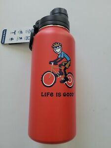 Life is Good 1 x 32oz Stainless Steel BPA Free Water Bottle Choose Your Style