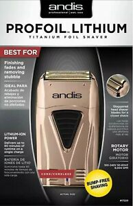 Andis 17220 Profoil Lithium Titanium Foil Shaver Cordless Copper/Rose Gold NEW