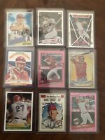 Mike Trout 9 card insert lot including 2020 RC Medallion