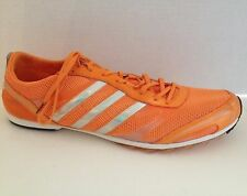 Adidas Adizero Shoes Mens Size 13 Track and Field Spikes Cleats Orange Tennessee