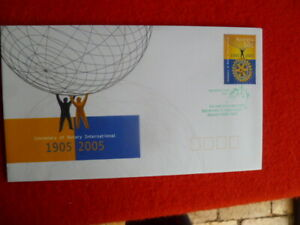 2005 CENT.  ROTARY INT GUMMED STAMP FDC GREEN INTERNATIONAL DAY PMK