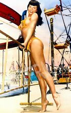 Bettie Page Bikini Carnival High Quality Metal Magnet 2.5 x 4 inches 9470