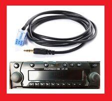 Cable auxiliaire aux adaptateur mp3 autoradio jack becker CD22 Porsche