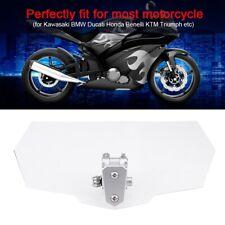 Universale Moto Parabrezza Spoiler Deflettore Regolabile Per Honda Kawasaki KTM.