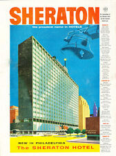 1957 Sheraton Philadelphia Hotel  Vintage Advertisement Print Ad J479