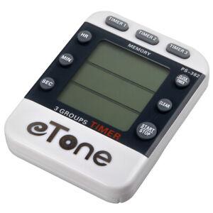 eTone 3 Channel Darkroom Triple Clock Timer Counter Film Developing Countdown
