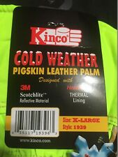 Kinco High Visibility Cold Weather Pigskin Leather Palm Gloves X-Large #1939