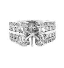 2.75ct Channel Diamond Semi-Mount Wedding Anniversary Ring in 18k White Gold