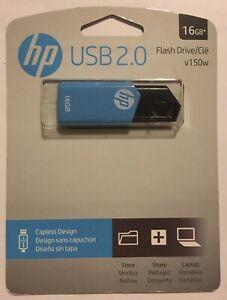 HP 16GB Sliding Memory Stick USB2.0 Drive v150w. Sealed