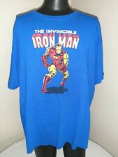 Mens Size XXL Invincible Iron Man T Shirt Blue Pre-owned