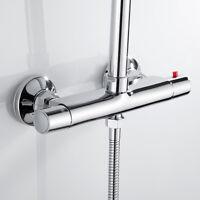 Salle de bains ronde thermostatique douche mitigeur robinet BrassTwin chrome