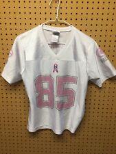 Green Bay Packers JENNINGS #85 Womens Jersey NFL White/pink glittery Small