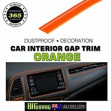 12M Car 4X4 Gap Trim Strips Decorative Door Edge Moulding Garnish Line Orange
