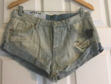 16a1f2360729 NWT Urban Outfitters BDG Slayer Mid Rise Distressed Denim Shorts Blue Size  28 W