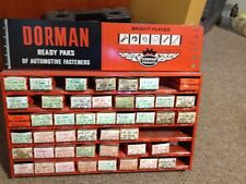 VINTAGE DORMAN AUTOMOTIVE READY PAKS FASTENERS METAL HARDWARE CABINET WITH BOXES