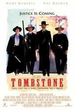 TOMBSTONE Movie POSTER PRINT 27x40 Kurt Russell Val Kilmer Michael Biehn