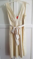 Brand new with tags - cream & metallic linen dress size 12