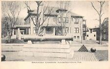 SPANISH CANNON MILITARY GUN HOUSE HAGERSTOWN MARYLAND POSTCARD (c. 1905)