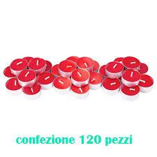 Set 120 Pezzi Candele Rosse Profumate Fragranza Fragola Tealight Lumini dfh