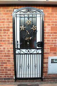 SECURITY DOORS.STEEL IRON METAL GATE. GARDEN GATE.SIDE GATE.HANDMADE. HANDFORGED